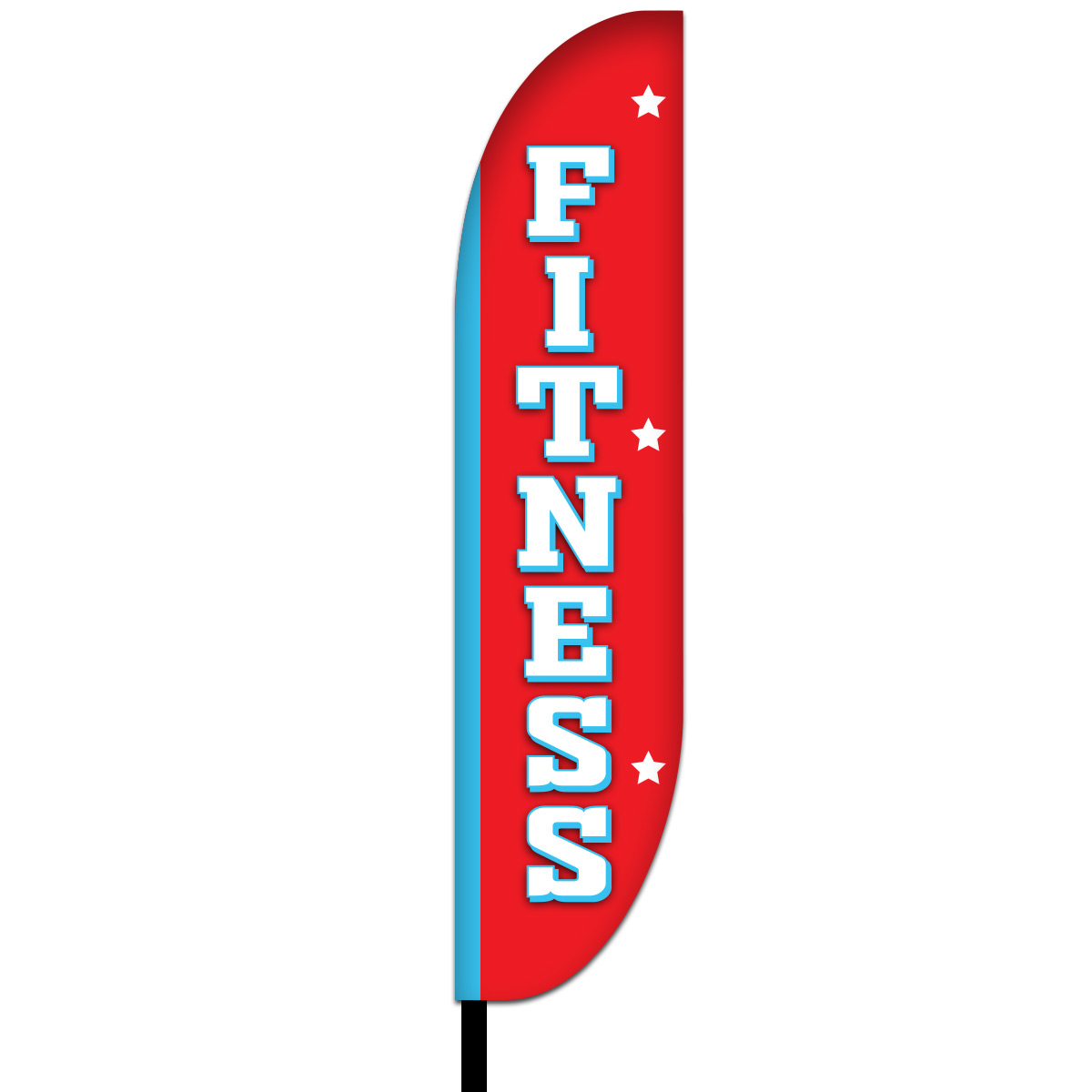 Fitness Feather Flag Design 01