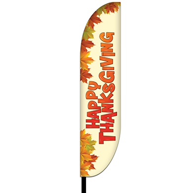 Thanksgiving Feather Flag Design 02