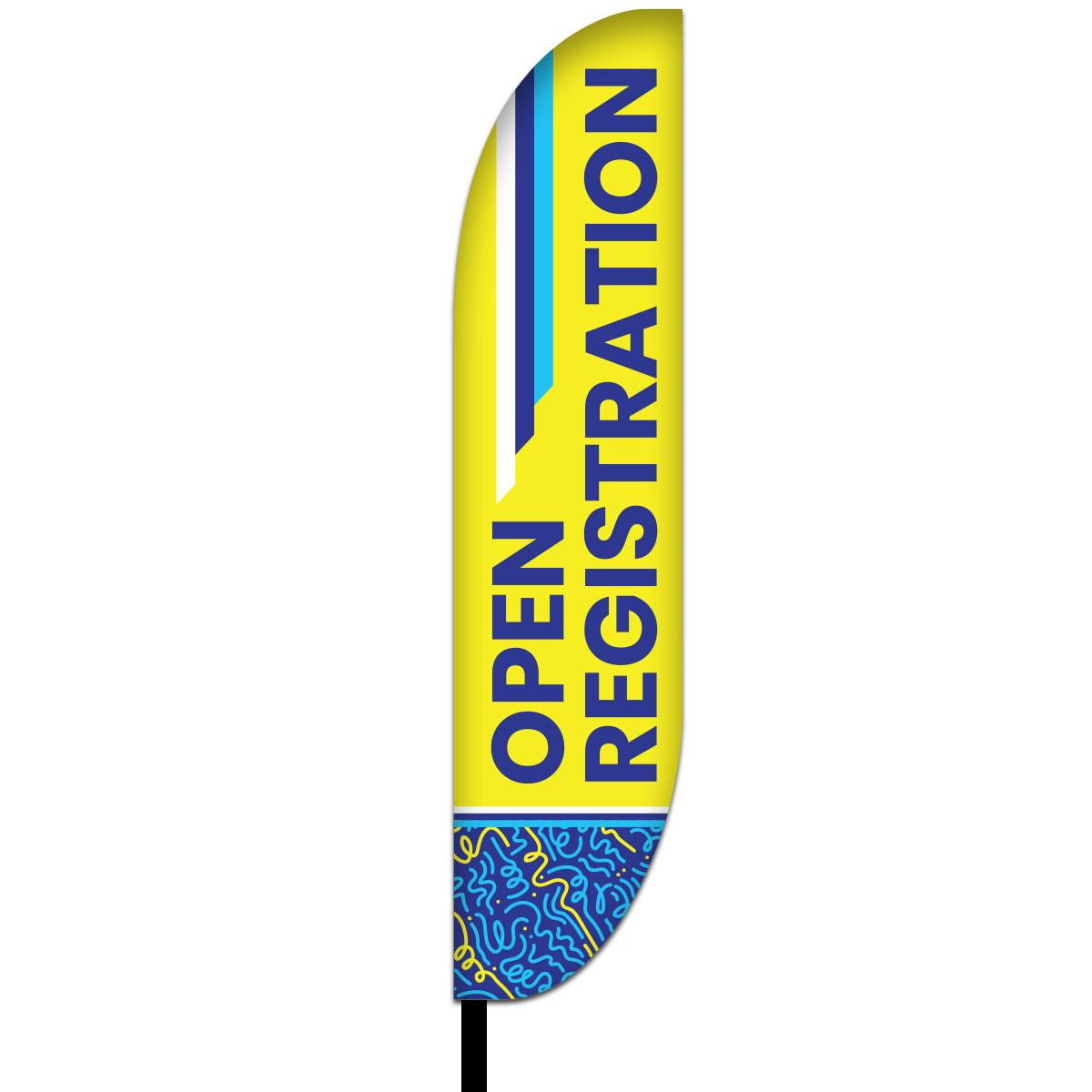 Open Registration Flag Design 01