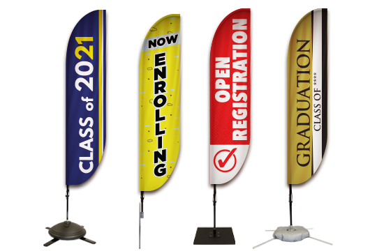 Education Feather Banners Profile