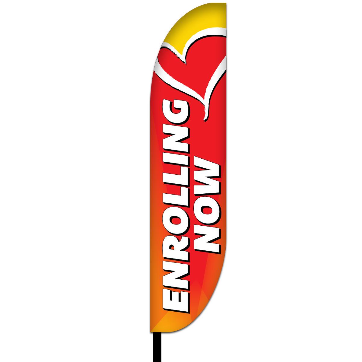 Now Enrolling Flag Design 02