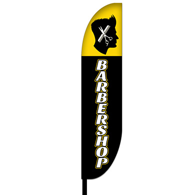 Barber Feather Flag Design 02