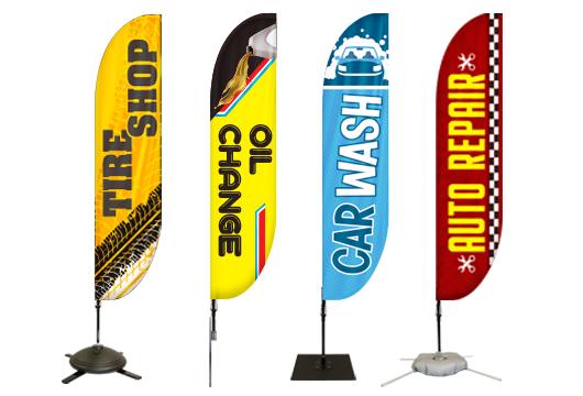 Auto Feather Flags Profile