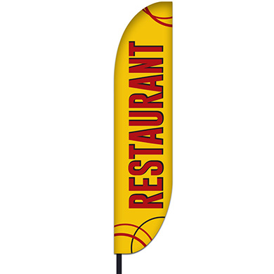 Restaurant Flag Design 04