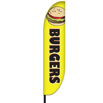 Burger Flag Design 03