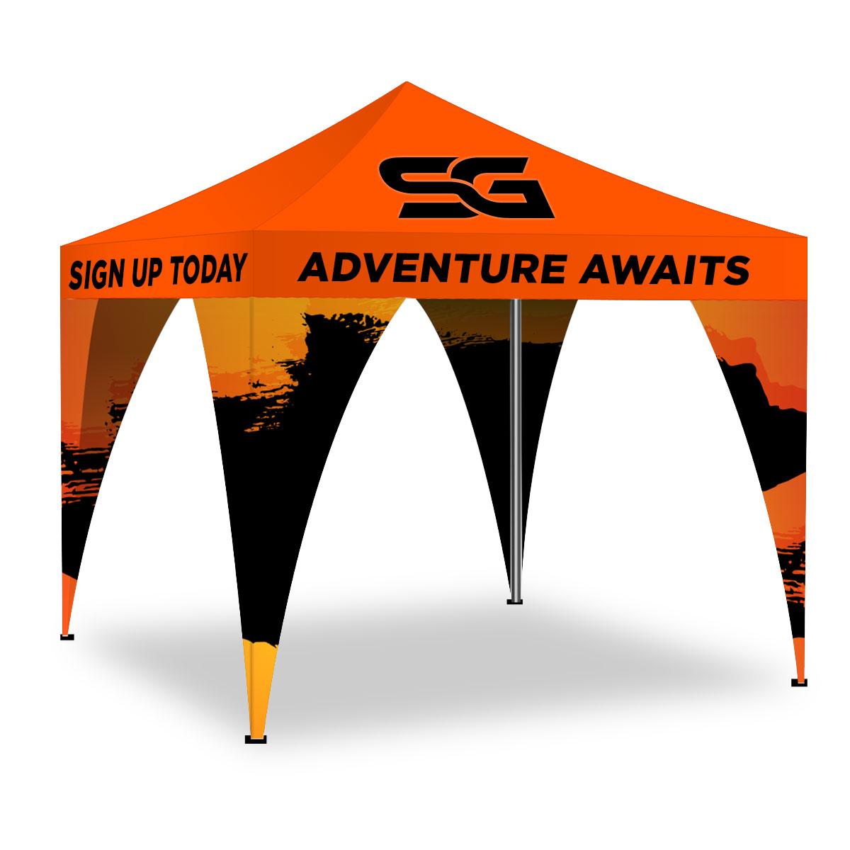 Custom Printed Canopy Leg Banners