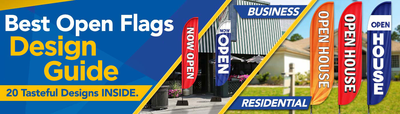 Best Open Flags Design Guide 2021 with 20 Tasteful Design Samples