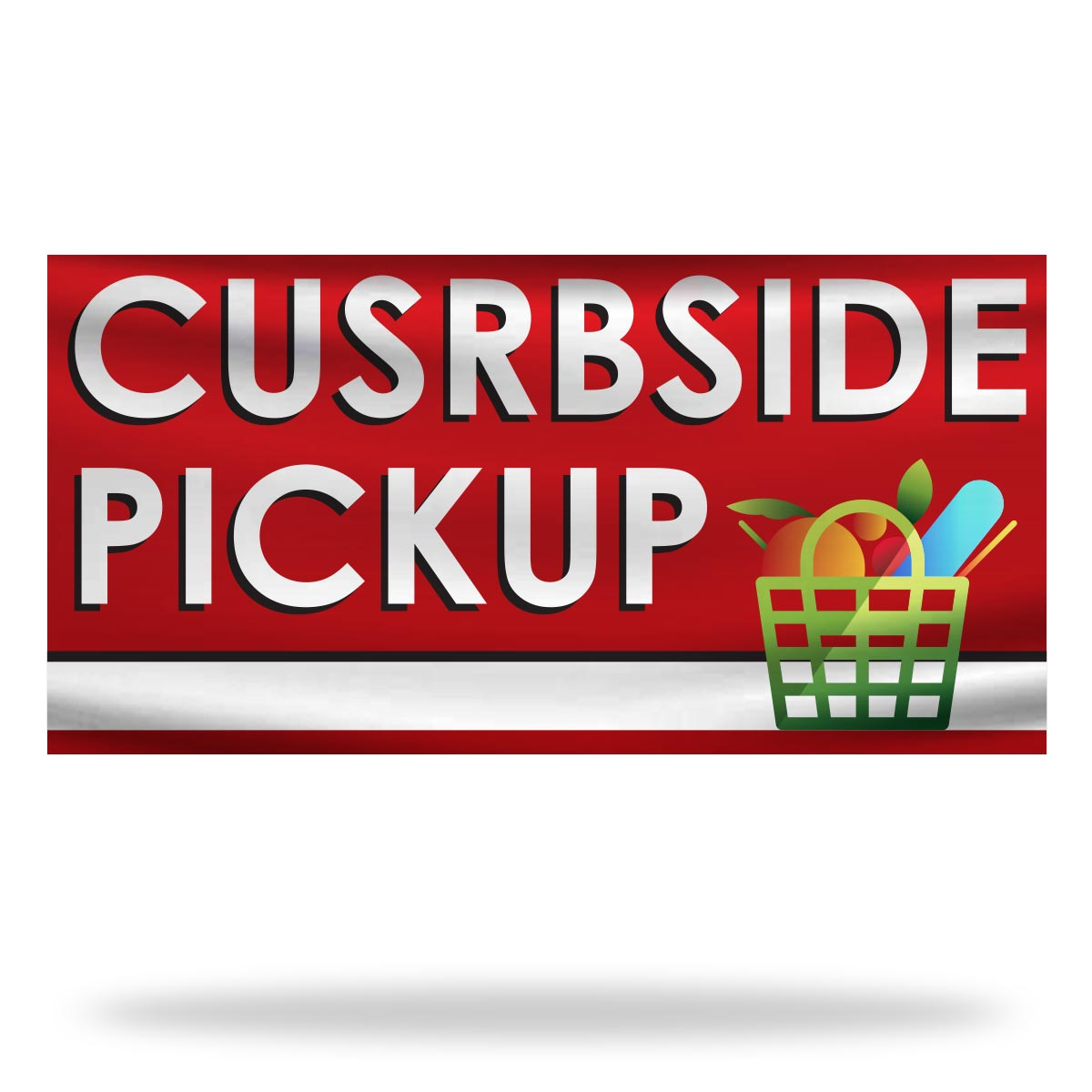 Curbside Pickup Flags & Banners Design 06