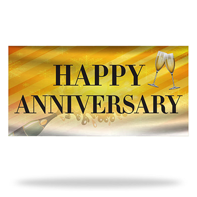 Anniversary Flags & Banners Design 01