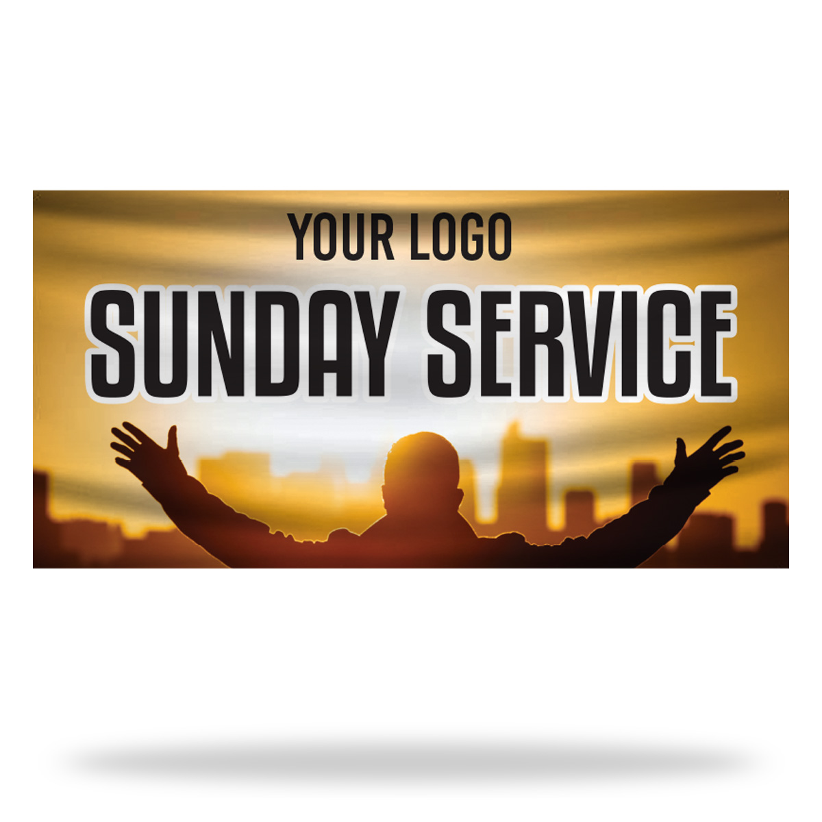 Sunday Service Flags & Banners Design 01