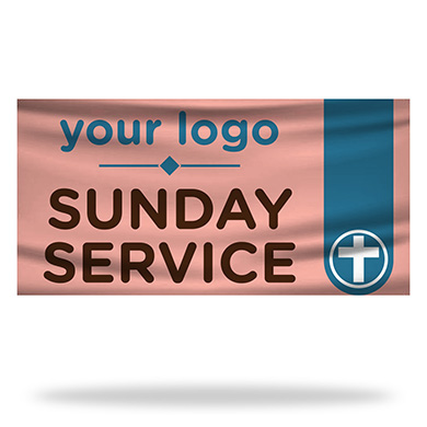 Sunday Service Flags & Banners Design 02