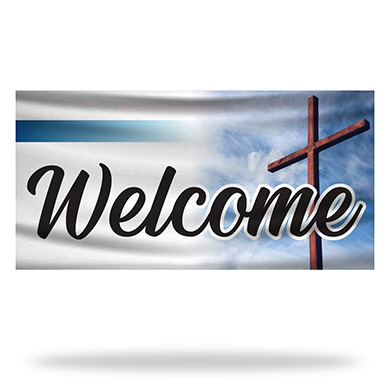 Religious Welcome Flags & Banners Design 02