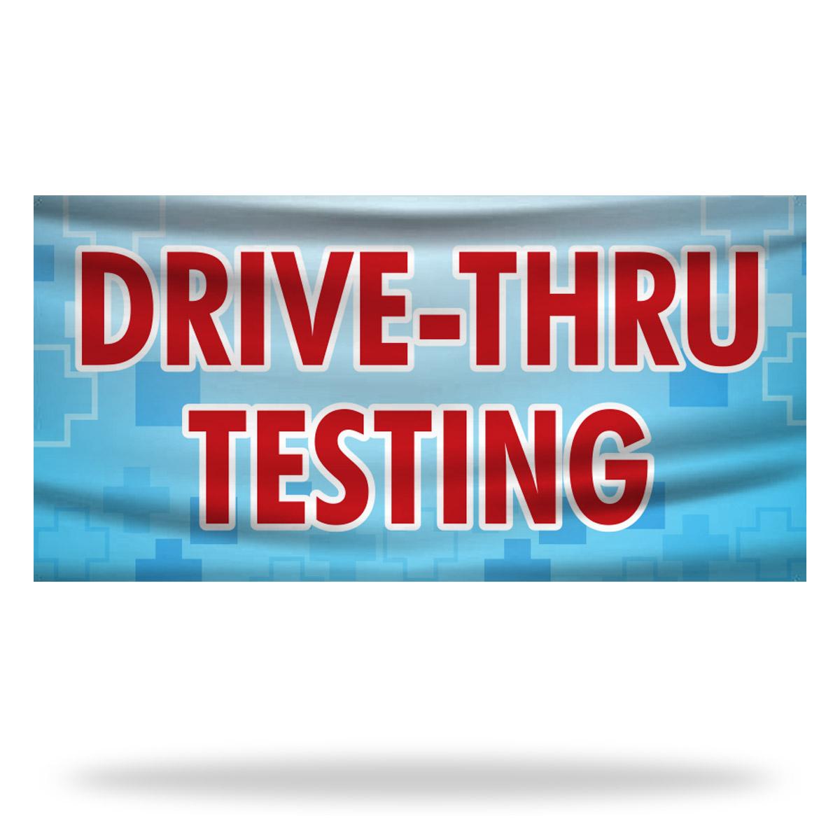 Drive Thru Testing Flags & Banners Design 02