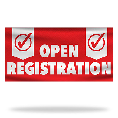 Open Registration Flags & Banners Design 02