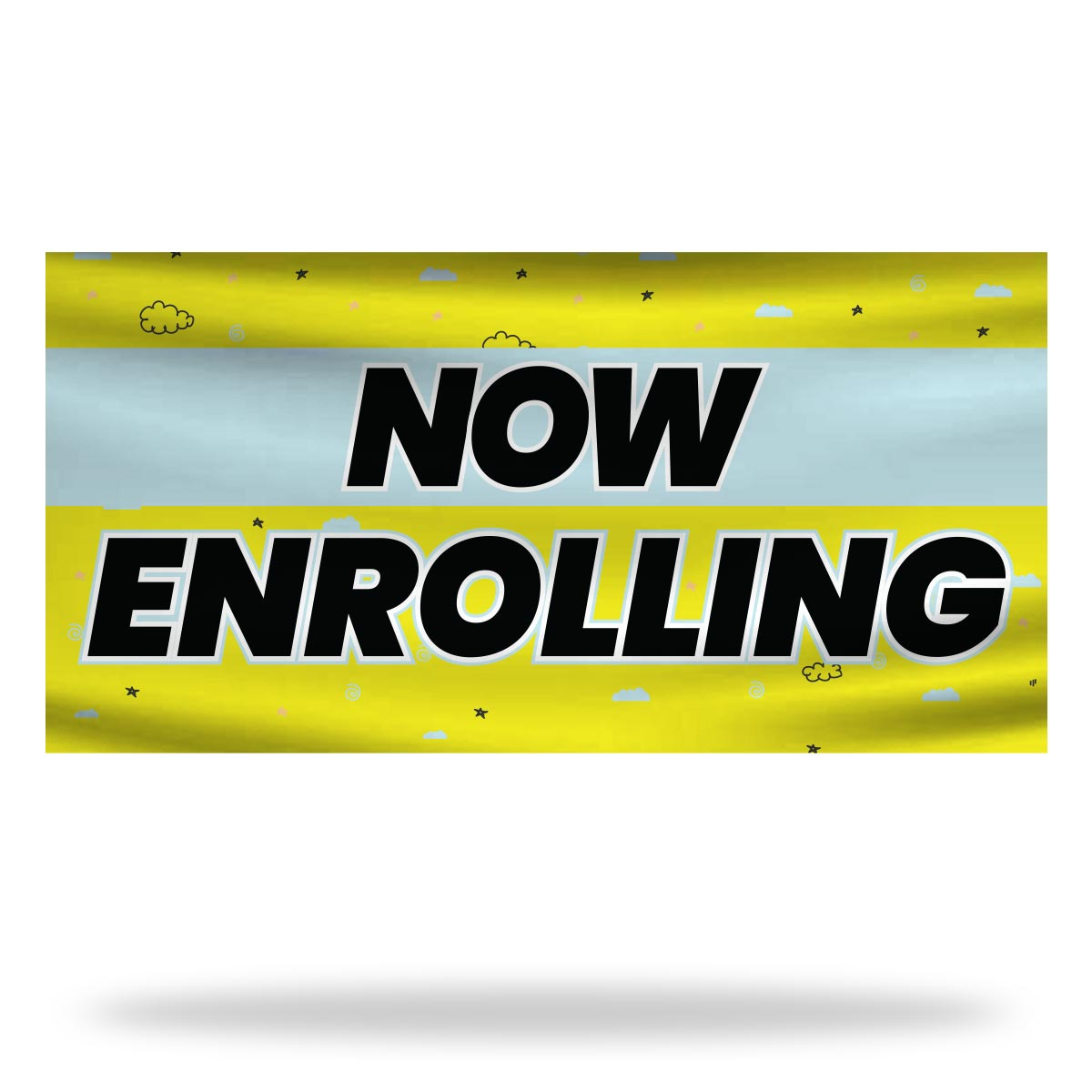 Now Enrolling Flags & Banners Design 01