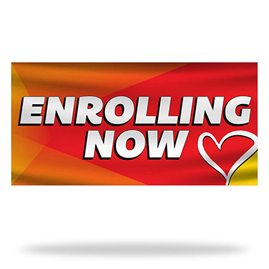 Now Enrolling Flags & Banners Design 02