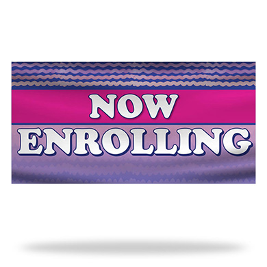 Now Enrolling Flags & Banners Design 03