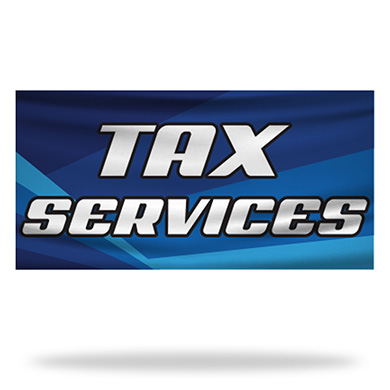 Income Tax Flags & Banners Design 03