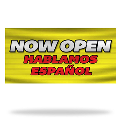 Spanish Now Open Flags & Banners Design 02