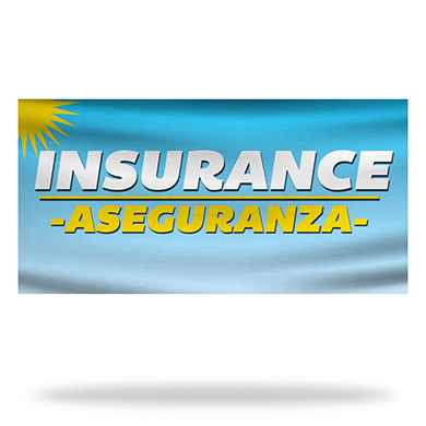 Spanish Insurance Flags & Banners Design 01