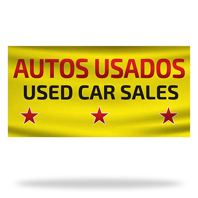 Spanish Used Cars Flags & Banners Design 01