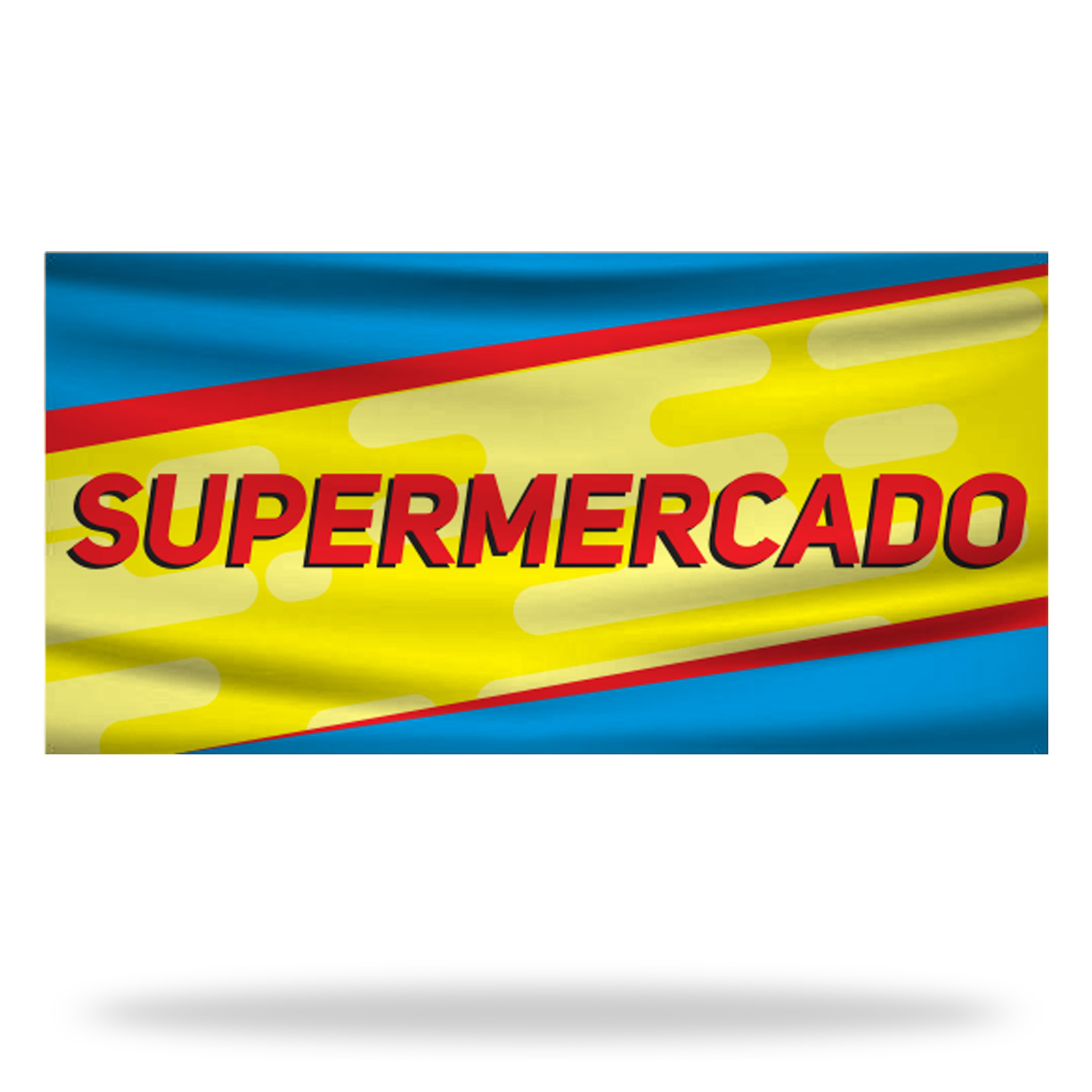 Spanish Supermarket Flags & Banners Design 01