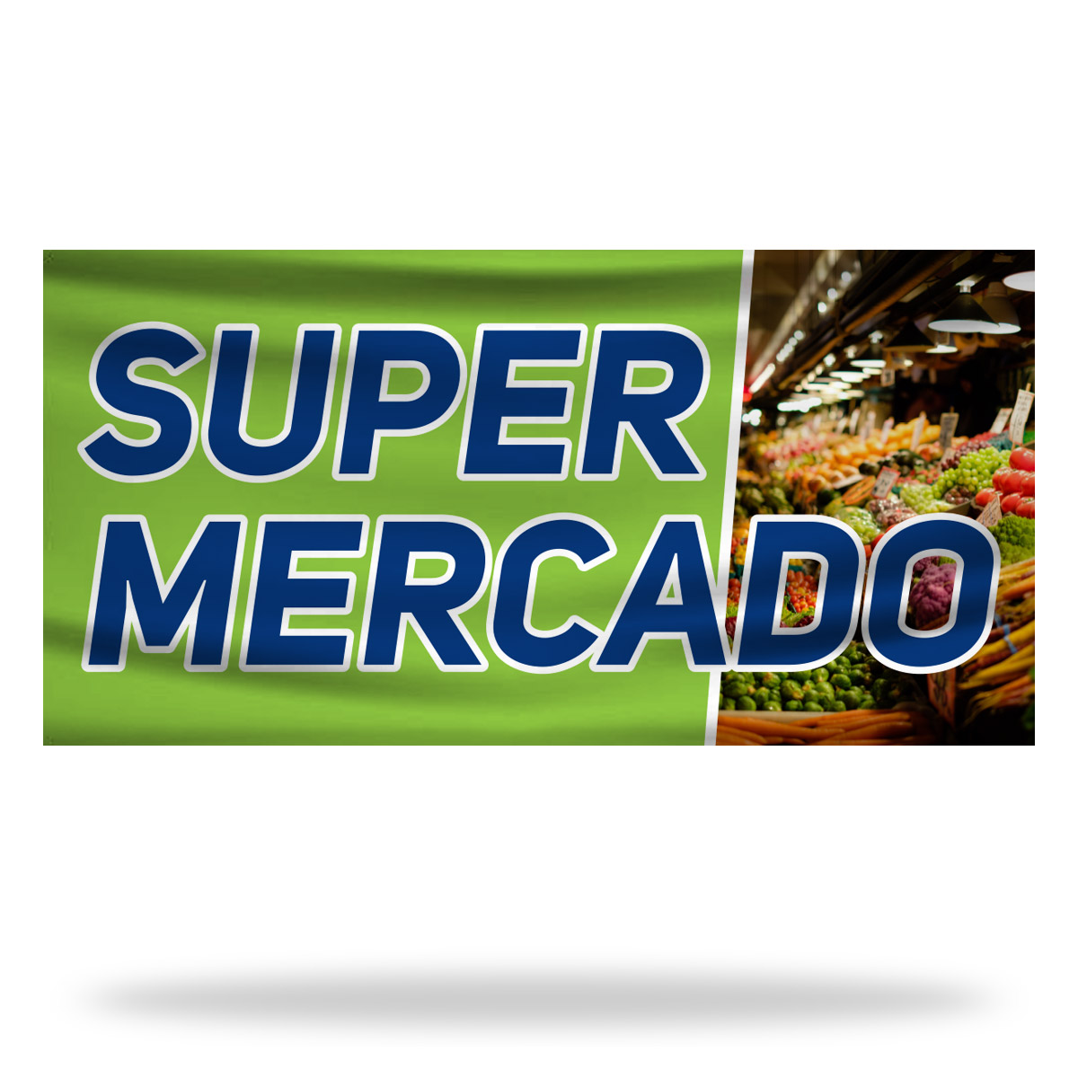 Spanish Supermarket Flags & Banners Design 02