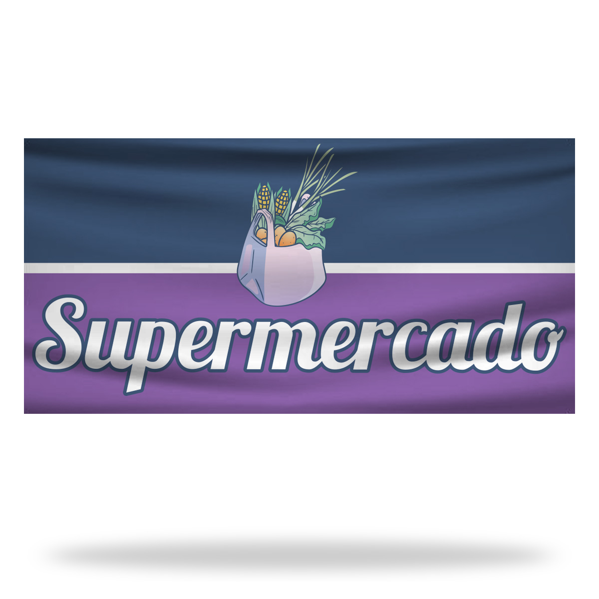 Spanish Supermarket Flags & Banners Design 03
