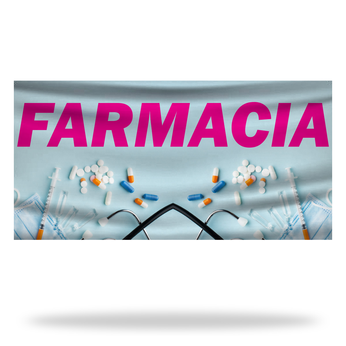 Spanish Pharmacy Flags & Banners Design 02