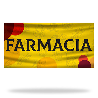 Spanish Pharmacy Flags & Banners Design 03