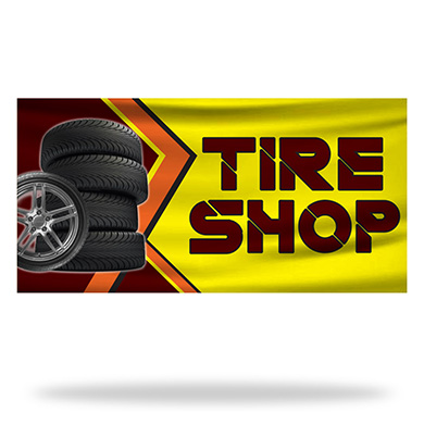 Tire Shop Flags & Banners Design 02