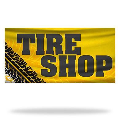 Tire Shop Flags & Banners Design 04