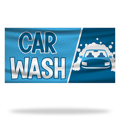 Car Wash Flags & Banners Design 02