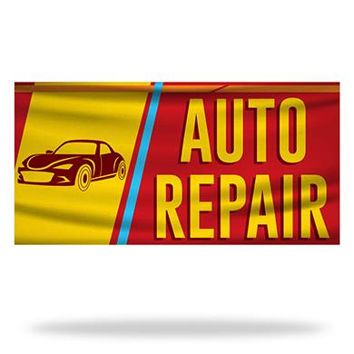 Auto Repair Flags & Banners Design 01