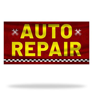 Auto Repair Flags & Banners Design 02