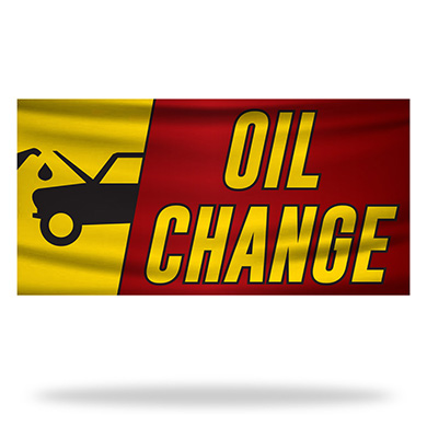 Oil Change Flags & Banners Design 01