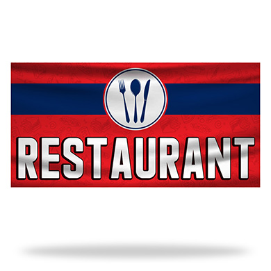 Restaurant Flags & Banners Design 01