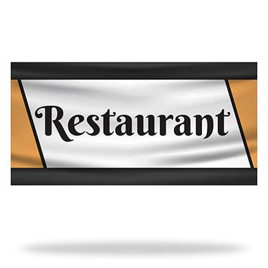 Restaurant Flags & Banners Design 02