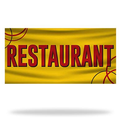 Restaurant Flags & Banners Design 04