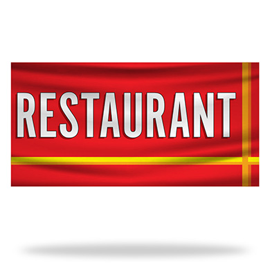 Restaurant Flags & Banners Design 05