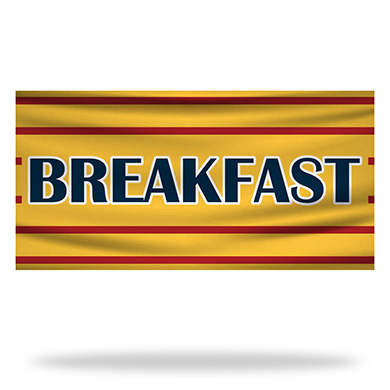 Breakfast Flags & Banners Design 01