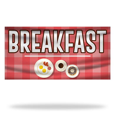 Breakfast Flags & Banners Design 02