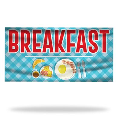Breakfast Flags & Banners Design 04