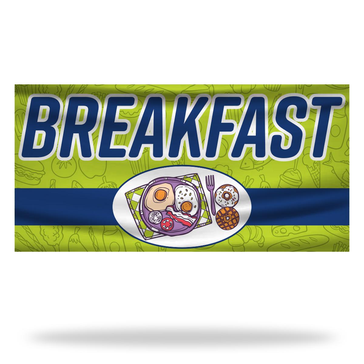 Breakfast Flags & Banners Design 03