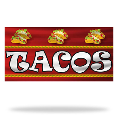 Tacos Flags & Banners Design 03