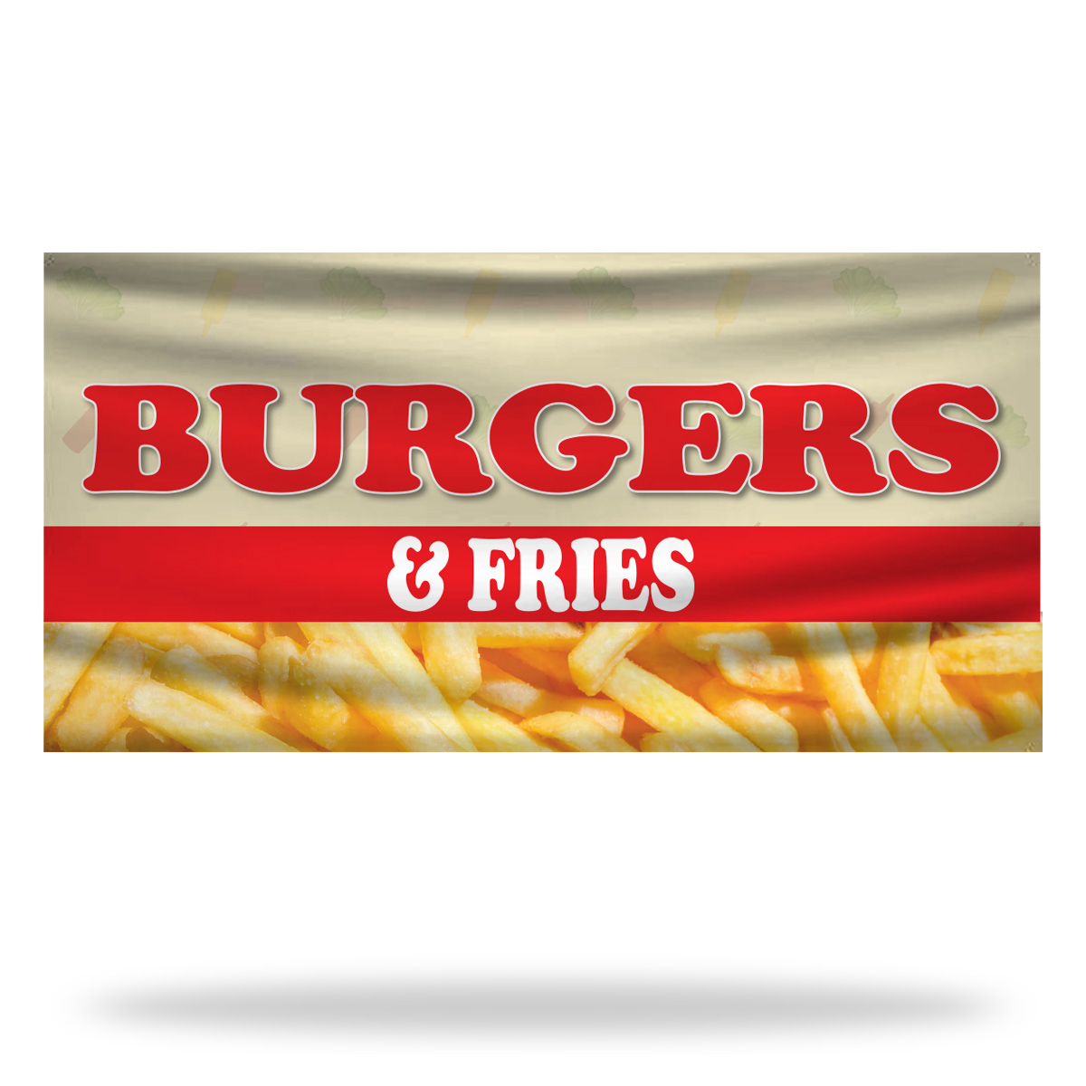 Burger Flags & Banners Design 02