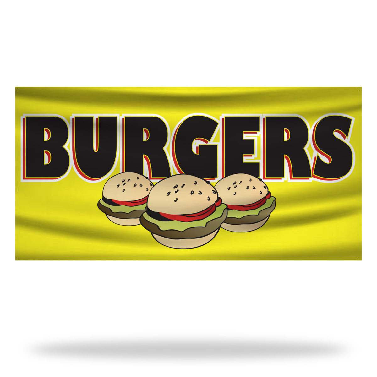 Burger Flags & Banners Design 03
