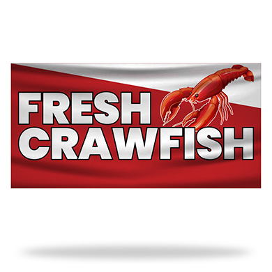 Crawfish Flags & Banners Design 01