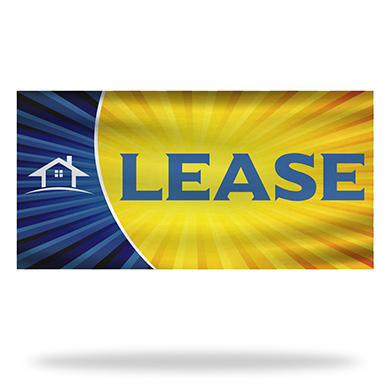 For Lease Flags & Banners Design 03