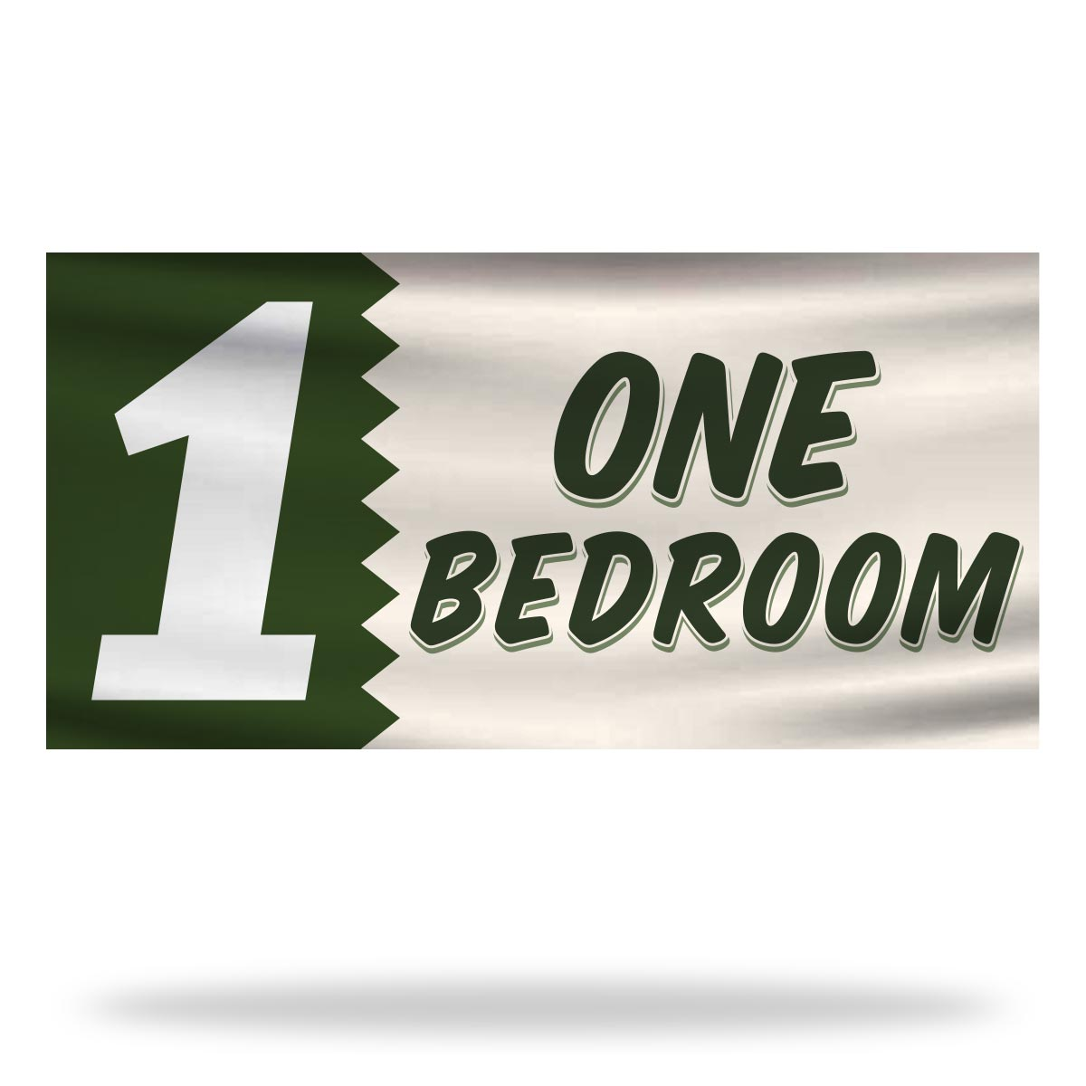 1 Bed Room Flags & Banners Design